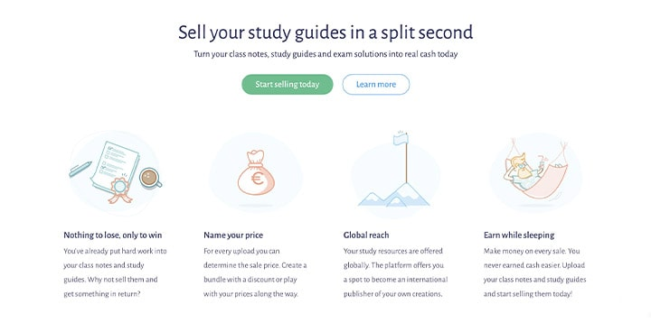 sell study notes online